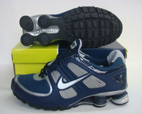New Nike Shox R5 Blue Silver Shoes