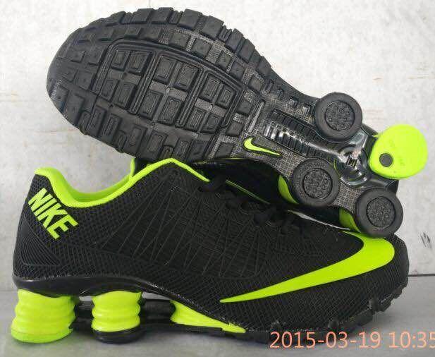 New Nike Shox Turbo Black Fluorscent Green Shoes