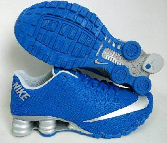 New Nike Shox Turbo Blue Silver Shoes