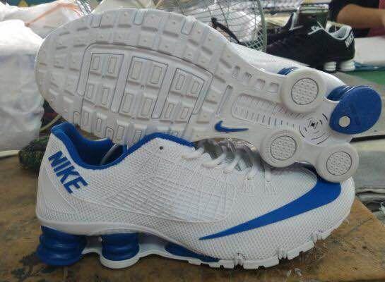 New Nike Shox Turbo White Blue Shoes