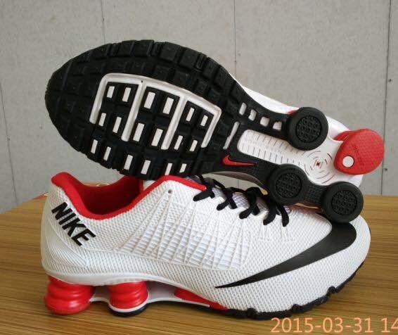 New Nike Shox Turbo White Red Black Shoes