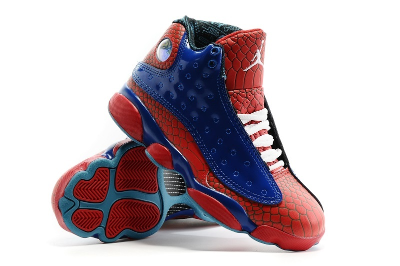 New Women's Nike Air Jordan 13 Spiderman Shoes