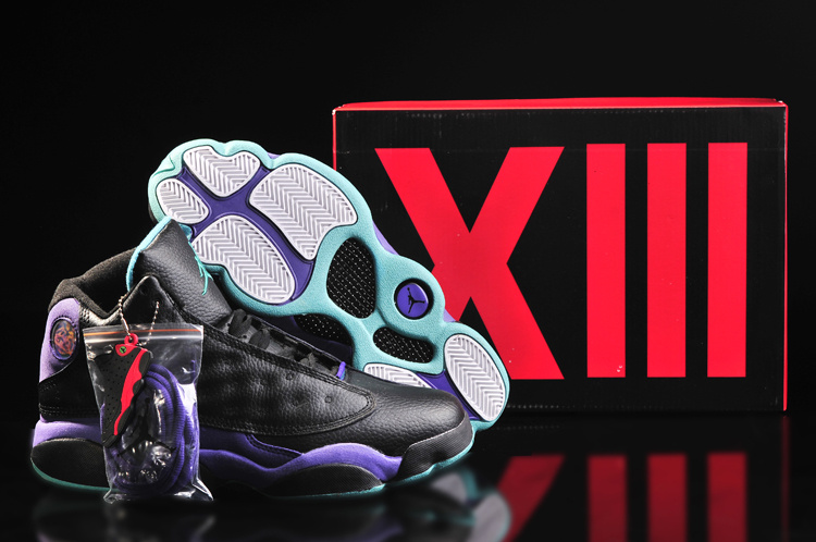 Women's Nike Jordan 13 Shoes Black Purple