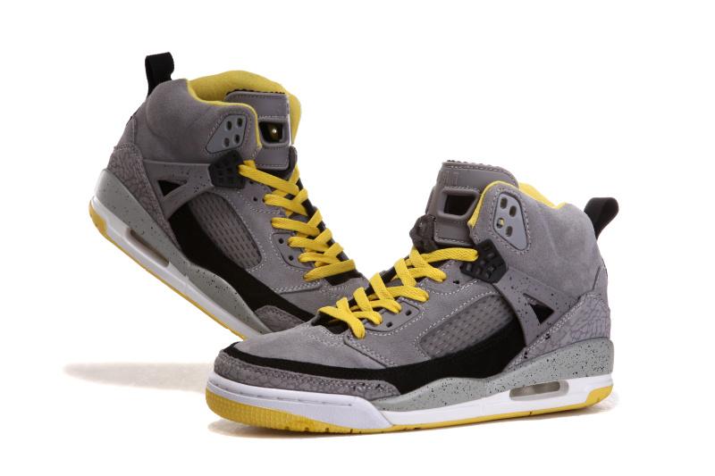 Nike Jordan 3.5 Suede Grey Black White Yellow Shoes