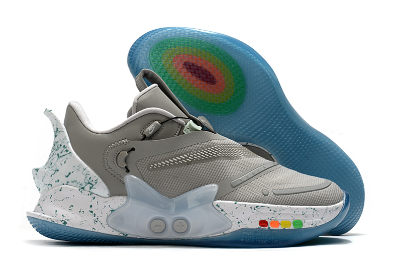 2020 Nike Adapt BB 2.0 Grey Colorful Basketball Shoes
