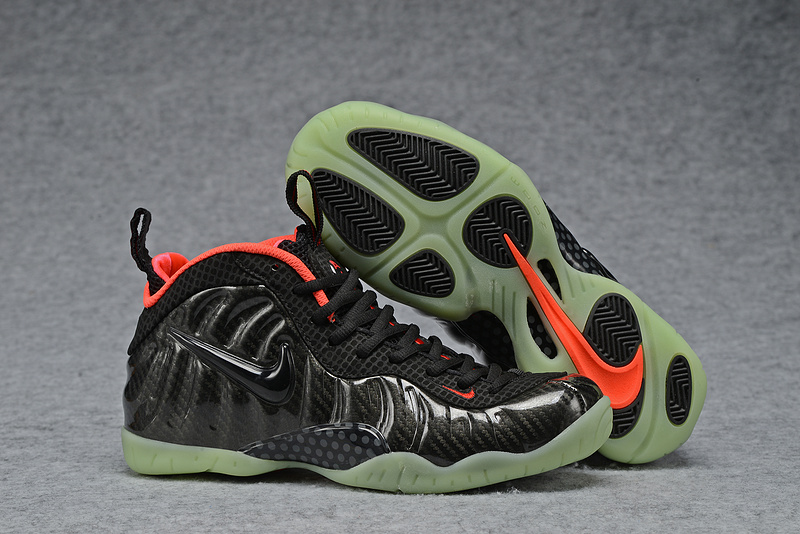 Nike Air Foamposite Pro Yeezy Black Orange Shoes