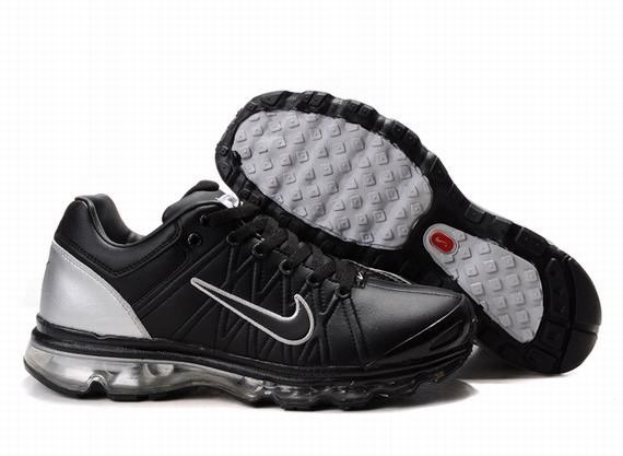 Nike Air Max 2009 Mens Leather Black Silver