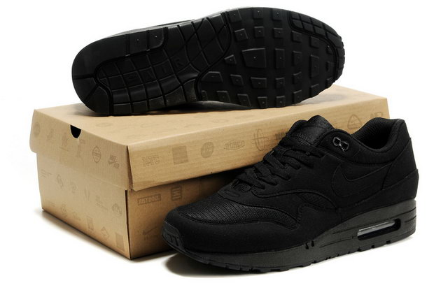 Nike Air Max 87 Premium For Mens All Black Shoes