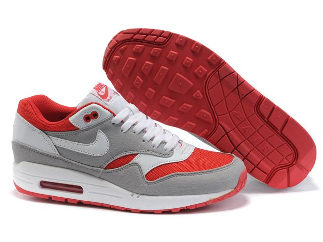 Nike Air Max 87 With Grey Red For Womens Shoes