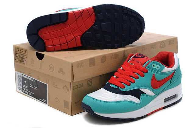 Nike Air Max 87 Womens Teal White Red Shoes