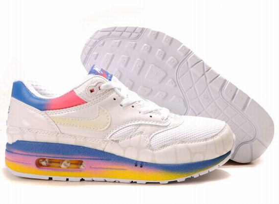 Nike Air Max 87 Womens White Blue Shoes