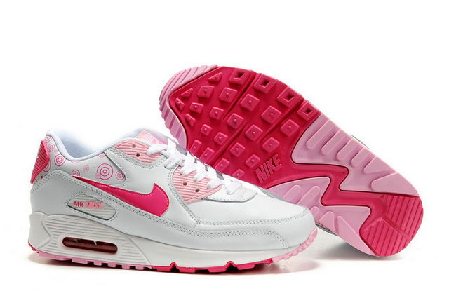 nike air max white and pink