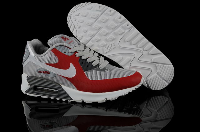 Nike Air Max 90 Hyperfuse Grey Sport Red Shoes