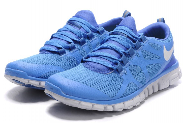 nike free 3 0 v3 mens shoes blue white fr046. Black Bedroom Furniture Sets. Home Design Ideas