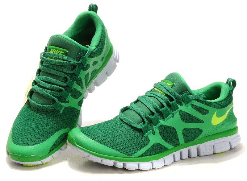 Nike Free 3.0 V3 Womens Shoes green yellow
