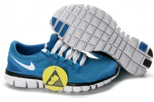 Nike Free 3.0 V3 Womens Shoes white blue black