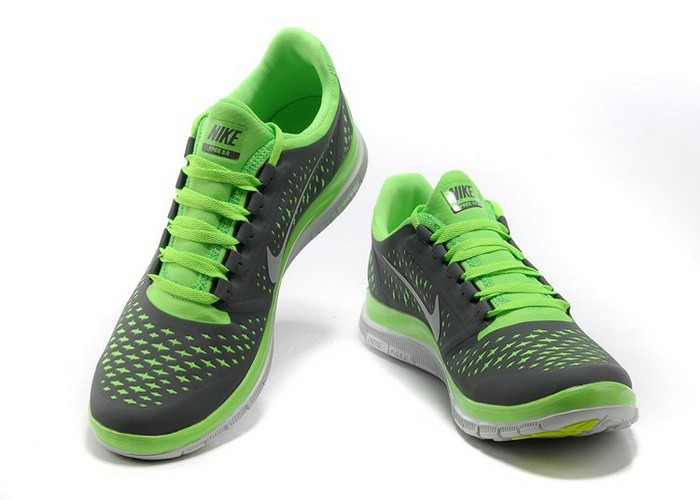 Nike Free 3.0 V4 Womens Shoes Green Grey White