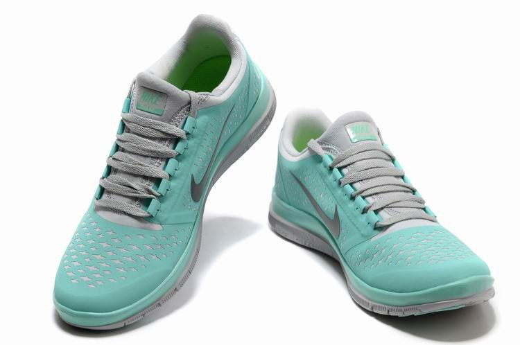 Nike Free 3.0 V4 Womens Shoes Grey Green White