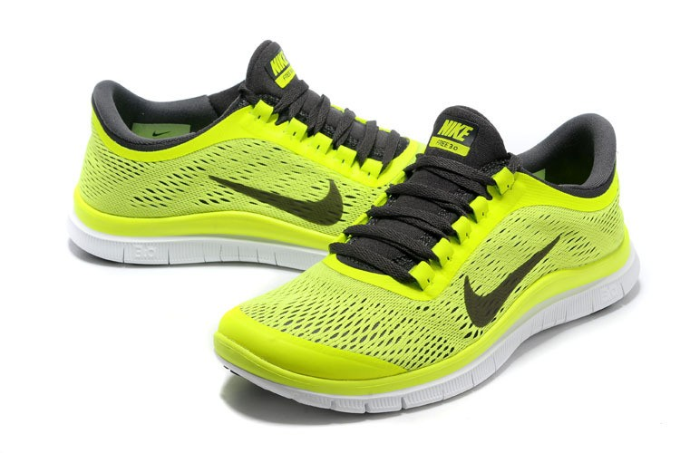 Nike Free 3.0 V5 Mens Running Shoes Fluorescent Green Grey
