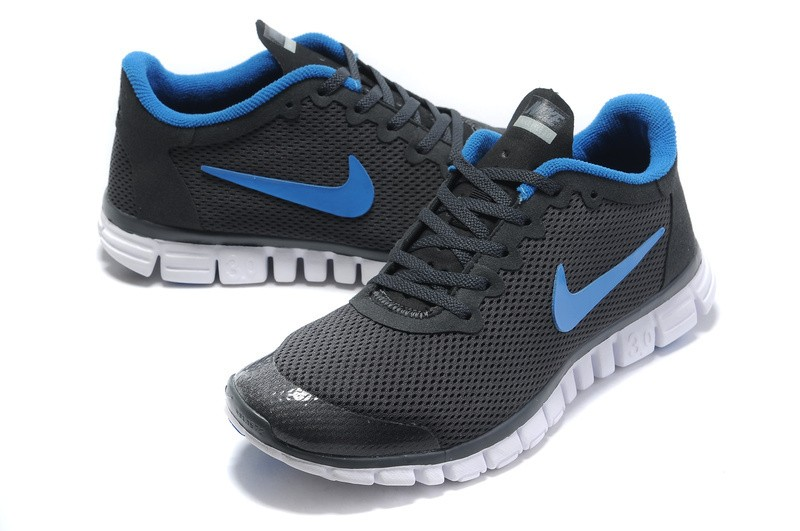 Nike Free 3.0 v2 Womens Shoes Black Blue
