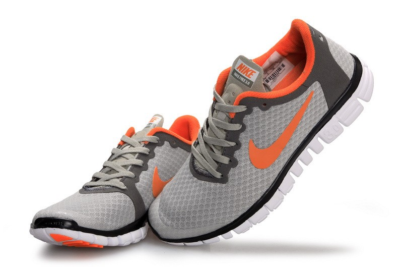 Nike Free 3.0 v2 Womens Shoes Orange Grey