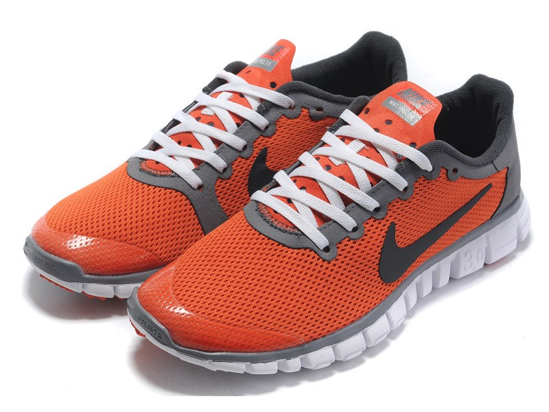 Nike Free 3.0 v2 Womens Shoes Reddish Orange Black