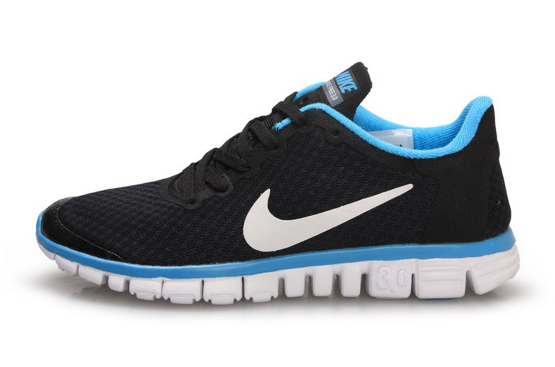 Nike Free 3.0 v2 Womens Shoes White Black Blue