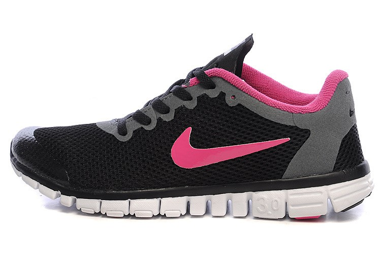 Nike Free 3.0 v2 Womens Shoes black pink