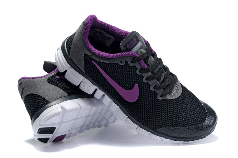 Nike Free 3.0 v2 Womens Shoes black purple