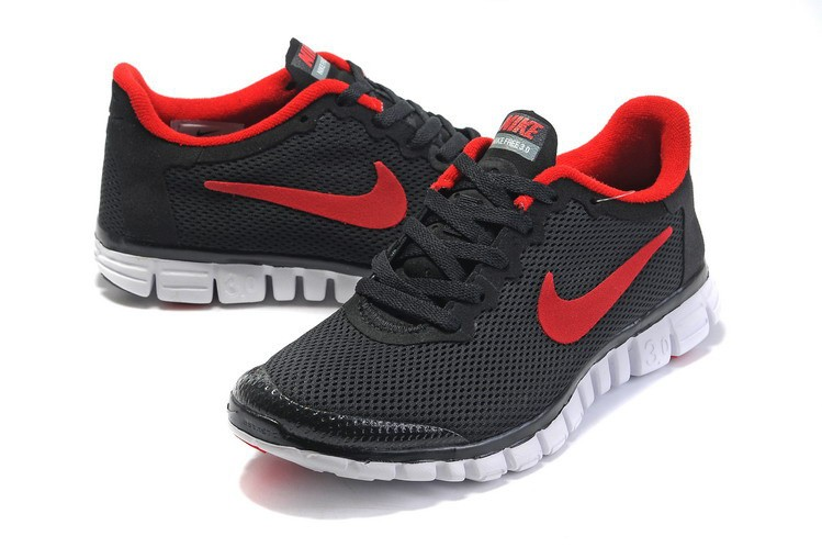 Nike Free 3.0 v2 Womens Shoes black red