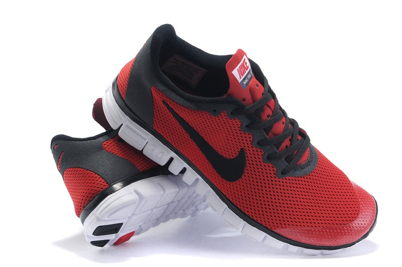 Nike Free 3.0 v2 Womens Shoes red black