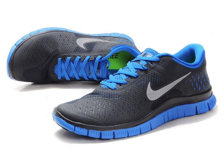 Nike Free 4.0 V2 Mens Shoes Blue Grey