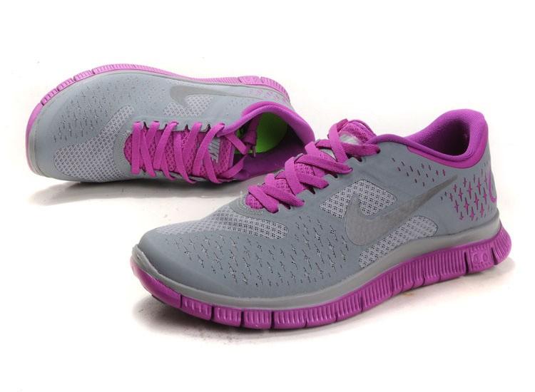 brand new 3bd08 d0969 Nike Free 4.0 V2 Women Shoes Purple Grey