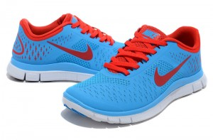 Nike Free 4.0 V2 Mens Shoes Red Blue