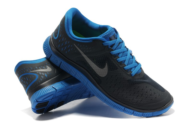 Nike Free 4.0 V2 Mens Shoes black blue