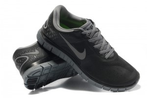 Nike Free 4.0 V2 Mens Shoes black grey