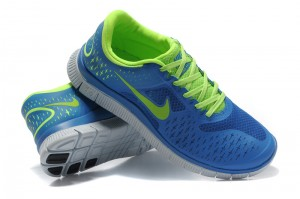 Nike Free 4.0 V2 Mens Shoes blue green