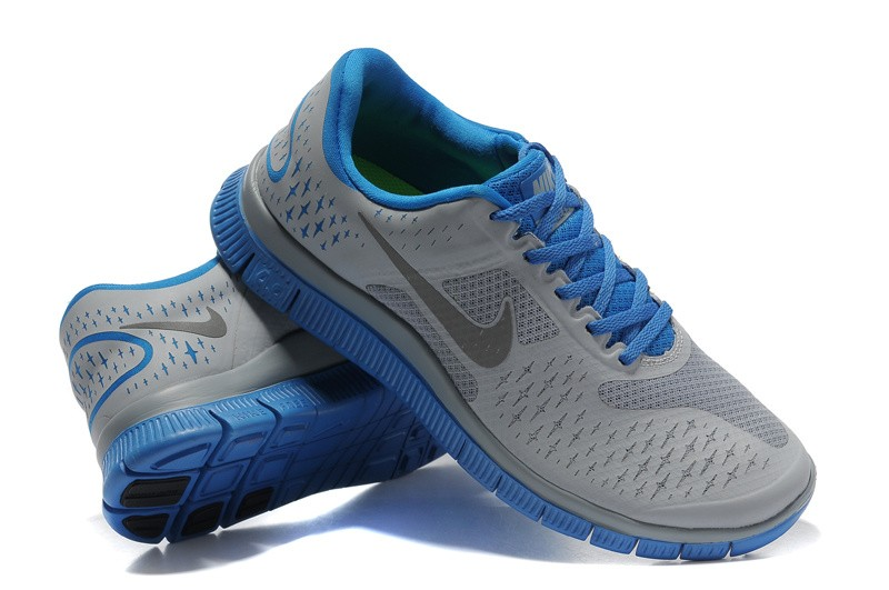 Nike Free 4.0 V2 Mens Shoes grey blue
