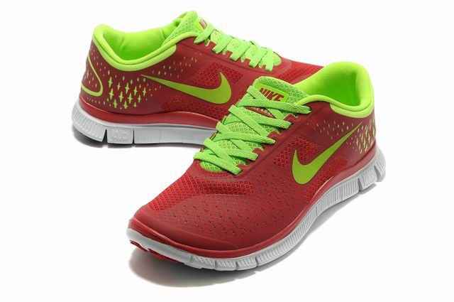 Nike Free 4.0 V2 Mens Shoes red green