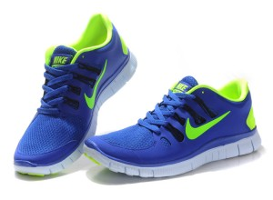 Nike Free 5.0 V2 Shoes Green Blue