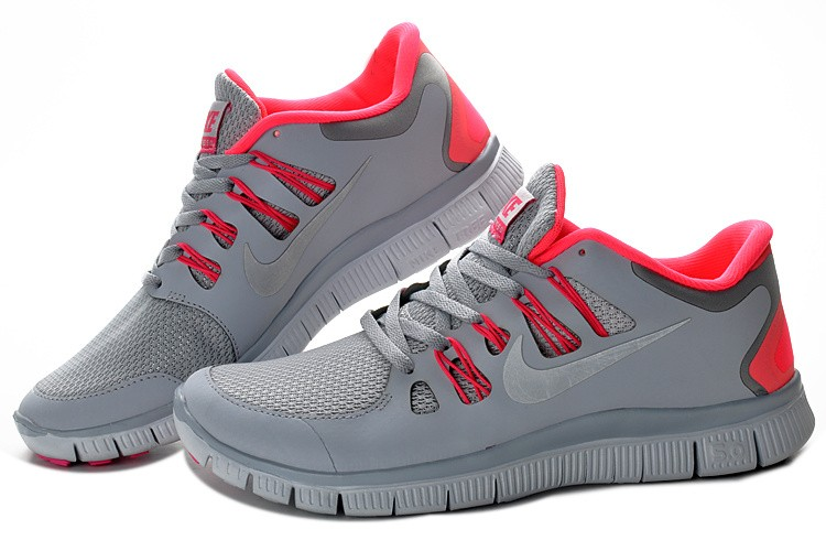 Women Nike Free 5.0 V2 Shoes Grey