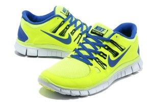 Women Nike Free 5.0 V2 Shoes Yellow