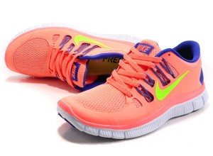 Nike Free 5.0 V2 Womens Shoes Blue Pink