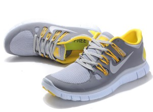 Nike Free 5.0 V2 Womens Shoes Grey Yellow
