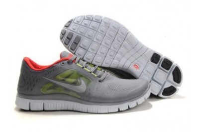 Nike Free 5.0 V3 Womens Running Shoes Grey Red