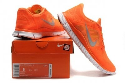 Nike Free 5.0 V3 Womens Running Shoes Orange Silver