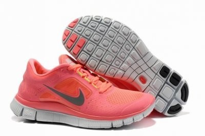 Nike Free 5.0 V3 Womens Running Shoes Pink Silver