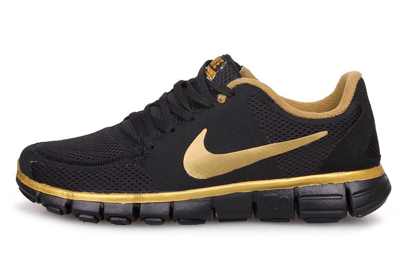 Nike Free 7.0 V2 Mens Running Shoes Black Gold