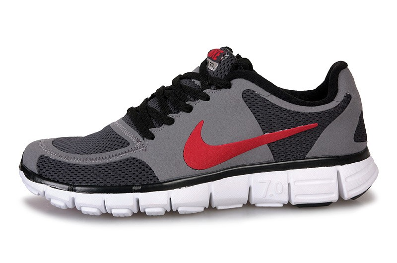 Nike Free 7.0 V2 Mens Running Shoes Grey Black Red