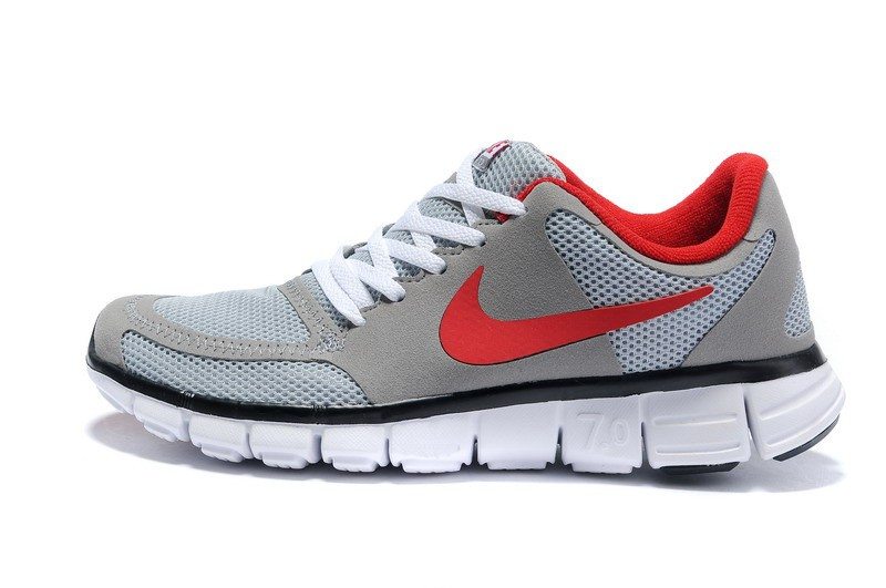 Nike Free 7.0 V2 Mens Running Shoes Grey Red